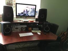 studio trends 46 in studio desk with dual 4u racks cherry ian s friend