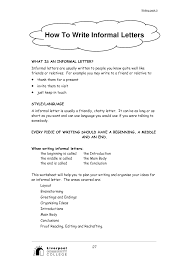 best photos of informal outline example   informal essay outline  example informal letter friend
