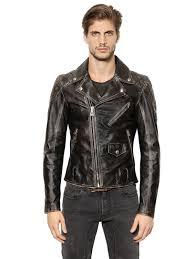 belstaff arlingham washed leather biker jacket black men clothing david beckham belstaff uk