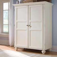 perfect white computer armoire for living room