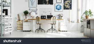 double desk home office. Big, Double Desk At Stylish Home Office T