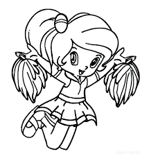 Stylist And Luxury Cheerleader Coloring Pages Excellent Cheer Bow To