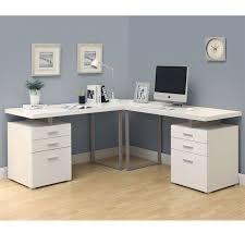 white 3pc l shaped desk home office desks shapes and corner unit