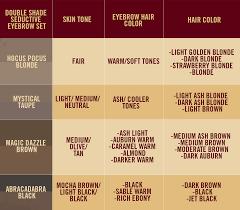 Innovative Brow Matching Chart 4ever Magic Cosmetics