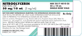 Nitroglycerin Infusion Rate Chart Nitroglycerin Injection Usp