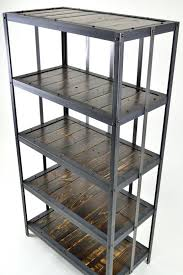 iron industrial furniture. industrial reclaimed wood and steel bookshelf by tayloredironworks iron furniture h