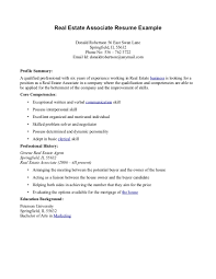 Free Printable Real Estate Agent Resume Featuring Profile Summary