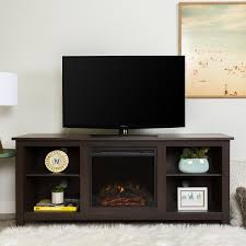 58 inch electric fireplace tv stand in espresso