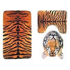 rug around toilet bath mat sets 3 piece bathroom rug sets tiger leopard pattern toilet rug rug around toilet