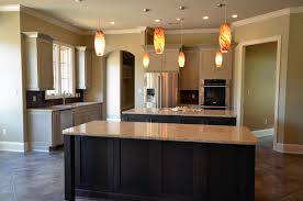 white brown colors kitchen breakfast. Kitchen:Rectangle Grey Modern Stained Wood Cabinet Orange Abstract Glass Lightning Brown Marbel White Colors Kitchen Breakfast O