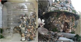 diy stone fairy house with plastic bottles usefuldiy