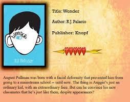 review wonder by r j palacio wonder to e the book