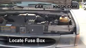 blown fuse check ford e econoline club wagon  locate engine fuse box and remove cover