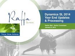 2015-01-06 Microsoft Dynamics SL 2014 YE Updates and Processing