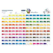 Watercolor Palette Chart Schmincke Horadam Watercolour Printed Colour Chart
