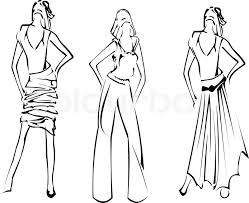 Small Picture Fashion Girls Designer Sketch Stock Vector Colourbox Coloring
