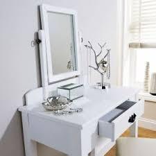 Image Is Loading Dressing Table Set Stool White Adjustable Mirror Bedroom