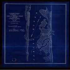 Indian River Inlet Tide Chart Amazon Com Vintography 18 X 24 Reprinted Blueprint Style