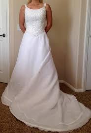 Elegant Michaelangelo Wedding Dress Michelangelo White Satin