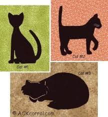 FREE CAT PATTERNS TO APPLIQUE | APPLIQ PATTERNS | Cat ideas ... & Applique a cat onto your next quilting project or any other applique  project with our cat patterns. Choose from 3 different cats each in 4  different sizes ... Adamdwight.com
