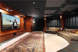 home theater acoustic panels. modern home theater with acoustic panel, curved wall, built-in bookshelf, panels