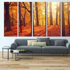 wonderful autumn forest extra large wall art red leaf tree canvas print sun shine trees branch on wall art trees large with wall art give you idea about extra large wall art oversized metal