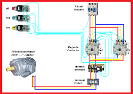 motor forward reverse wiring diagram elec eng world control 240 volt contactor wiring diagram at Contactor Relay Wiring Diagram