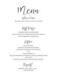 Wedding Bar Menu Template Free Templates For Word Remarkable