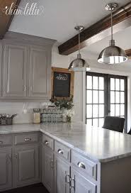Dark Kitchen Cabinets With Light Granite Adorable The Finishing Touches On Our Kitchen Makeover Before And Afters By