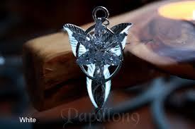arwen evenstar pendant glow in the dark lotr the hobbit lord of the rings aragorn pendant
