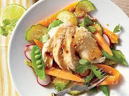 garden salad with chicken.  With Sesame Chicken Garden Salad Throughout With L