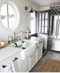 Cozy white kitchen--shiplap, farmhouse sink | k i t c h e n in 2019 ...