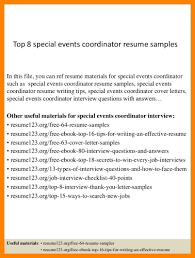 Event Coordinator Resume Cover Letter Samples Tomyumtumweb Com