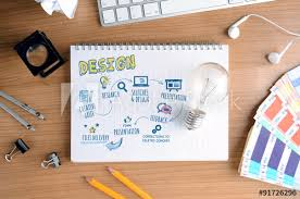 Creative Concept For Design Process For Designers And