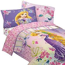 Amazon.com: 4pc Disney's Tangled Twin Bedding Set Princess Rapunzel Magic  Flowers Comforter and Sheet Set: Home & Kitchen
