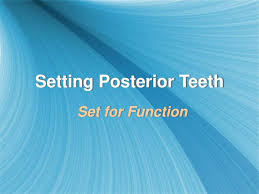 Teeth Setting Ppt Setting Posterior Teeth Powerpoint Presentation Id