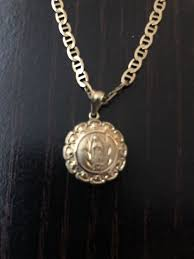 solid 10k gold chain religious pendant necklace real gold 3 5 mm