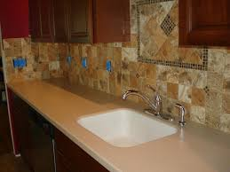 Accent Tiles For Kitchen Porcelain 4x4 Kitchen Tile Backsplash With Accent Behind Sink