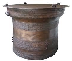 traditional bronze rain drum tables