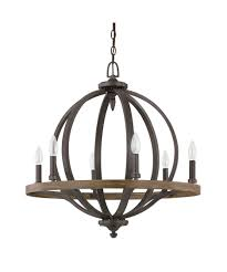 shown in iron and oak finish