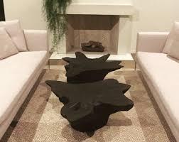 wood stump furniture. tree stump table shou sugi ban wood coffee furniture e