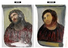 an old church in spain needed to re a worn out painting they hired the wrong person