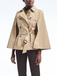 banana republic womens water resistant trench cape golden beige