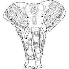 Coloring Pages Elephant Running Downcom