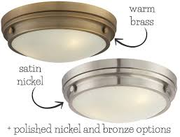 an inexpensive but beautiful flush mount light in four finish options one of my favorites