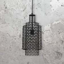geometric cylinder pendant light