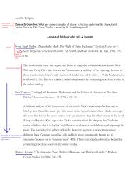 Mla Research Paper Unique Mla Research Paper Annotated Citation