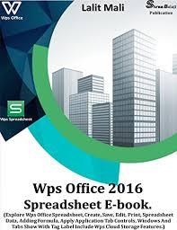 Amazon Com Wps Office 2016 Spreadsheet Ebook Explore