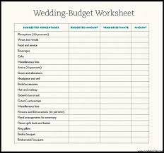 Sample Wedding Budget Spreadsheet | Onlyagame