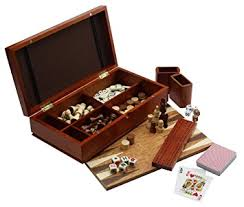 Wooden Games Compendium 10000 in 100 Games Compendium in a Burl Wood Box Amazoncouk Toys Games 54